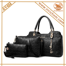 Lady fashion designer PU high quality handbag OEM women's custom hand bag wholesale