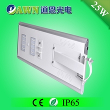 25W IP65 super bright integrated all in one all in one solar led street light vertical wind tunnel light pool and fountain