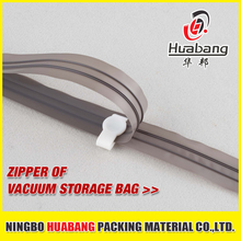 Colorful double sealed lock PE plastic vacuum bag zipper cheap environmental magic zip