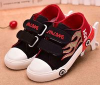 Import Spring Autumn Children Canvas Popular Breathable Casual Flat Shoes For Girls And Boys Stars Shoes
