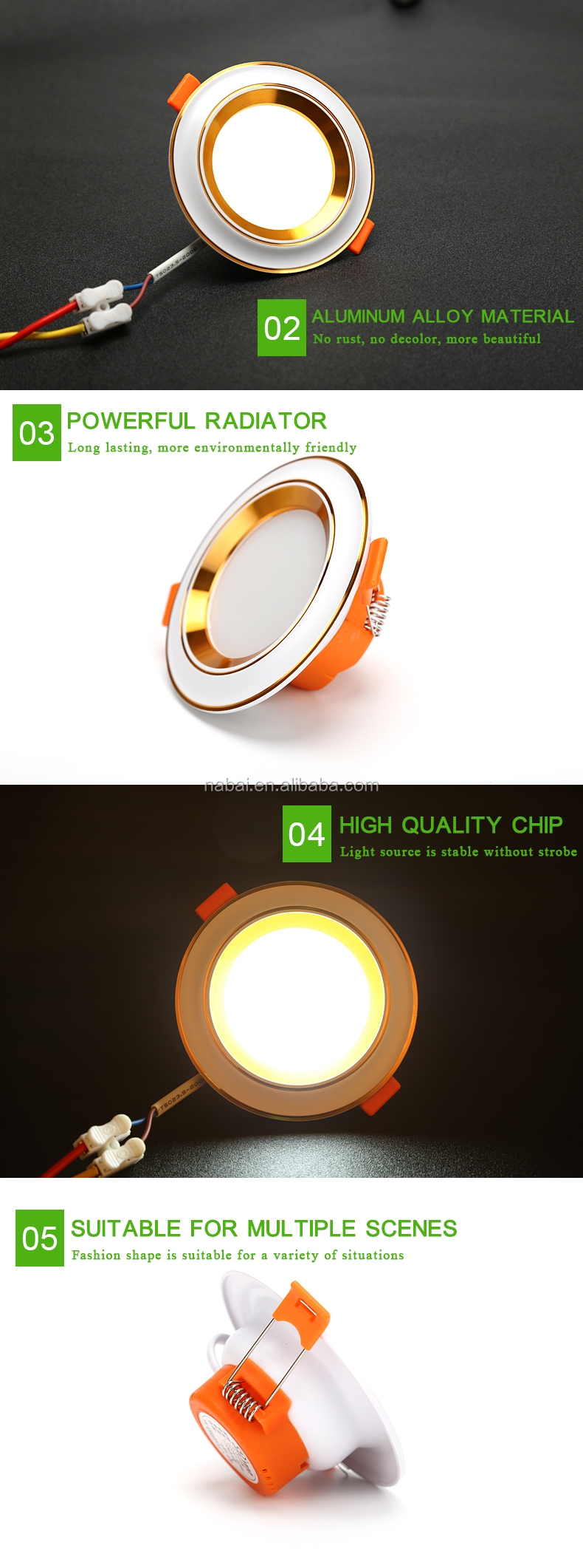 Dimmable recessed 3Inch 5W LED Downlight