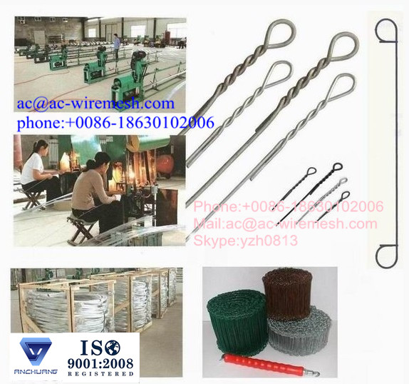 Double Loop tie Wire Ties/loop tie wire/bailing tie wire