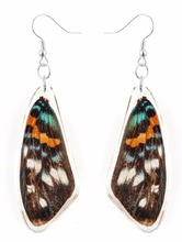 Unique and beautiful REAL butterfly wings earring fashion