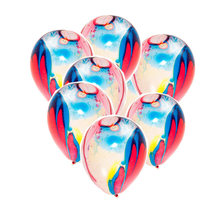 20Pcs 12 Inch Confetti Balloons Rubber Latex Balloon with Ribbon and Inflator