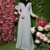 Kyle and Jane factory service OEM two layers composite silk elegant abaya jalabiya kaftan for muslim women in summer summer