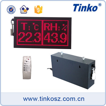 TINKO TH32A Digital Humidity Temperature Monitor LED Display with Clock
