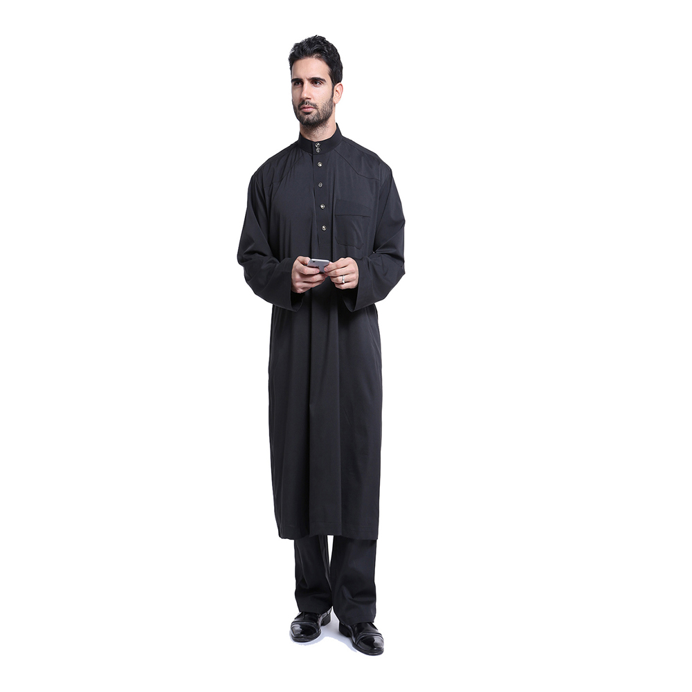 High end muslim baju 2018 special colors thobe jubba designs for men malaysia and indonesia ethnic daily modern fashion thobe