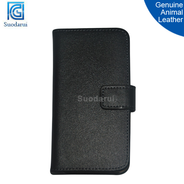 Genuine animal leather Wallet Stand Case for apple iphone 4g 4s