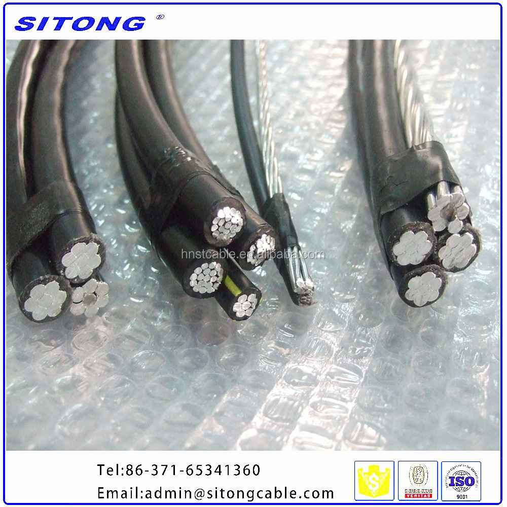 Low or Middle Voltage PVC Sheathed Overhead Electric Transmission Aerial Bundled Cable ABC Cable price list