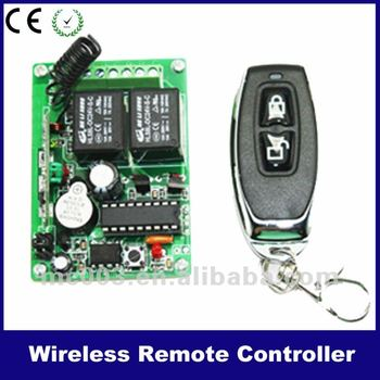 2 channel wireless control system for LED, gate door and windows