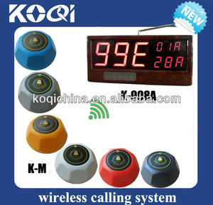 Wireless system to call to mesero with make transmitter receiver and colorful buzzer button