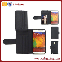 luxury fancy credit card holder wallet case for samsung galaxy note 3