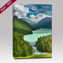 Landscape Decoration Green Forest Painting Frameless Canvas Prints for Living Room Decoration