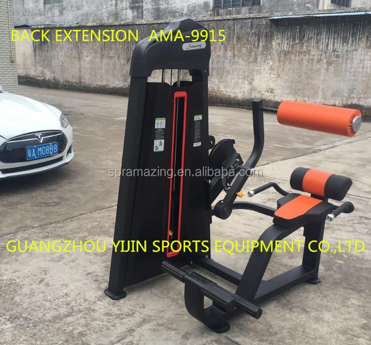 Back extension gym machine Professional Pin load body stretching exercise fitness equipment AMA-9915