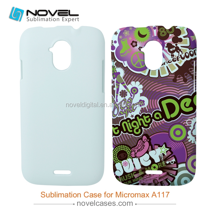 DIY 3D Sublimation phone case for Micromax A117, customized full-printig phone cover