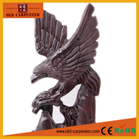 Grand Planning Eagle 21*10*49CM craft ornaments business gifts modern animal wood carving