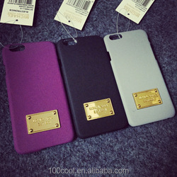 Stone Pattern with Metal Plate Phone Case Mobile Cover for IPHONE6 /6Plus