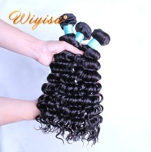 100% Thick ! aliexpress large stock factory wholesale virgin natual color remy 8a grade brazilian hair weave