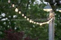 ETL Listed outdoor Commercial String Lighting 48' Ft 15 Lights decorative patio string lights