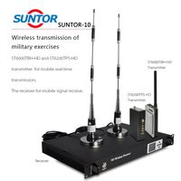 Two-way Speaking Military COFDM Transmitter and receiver,wireless AV+data Signal Transmission