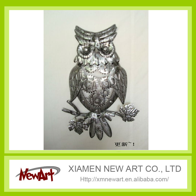 owl metal craft decorations