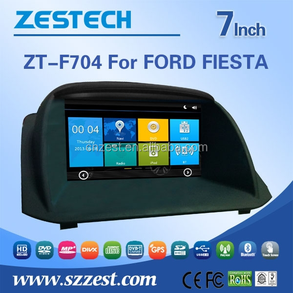 ZESTECH hot sale car dvd player for Ford fiesta car radio gps with TV/AM/FM/Bluetooth/USB/SD CARD/GPS