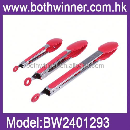 silicone pastry food tongs serve food clip ,RU041 silicone bbq tongs