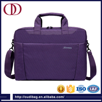 "15"" purple hot sale waterproof laptop bag and laptop bag with belt"