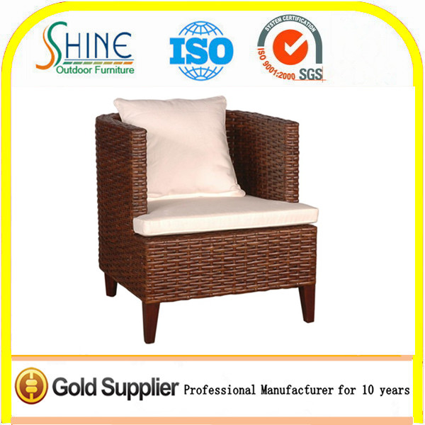 Wholesale Furniture Outdoor Sofa Chair Rattan Single Arm