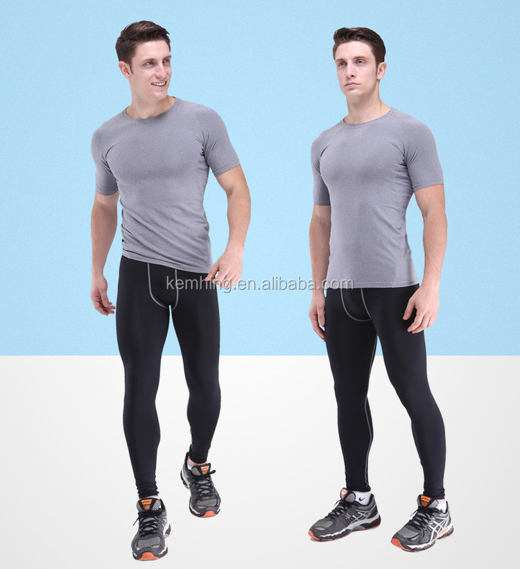 OEM Mens Fashion printing quick dry gym yoga pants leggings compression