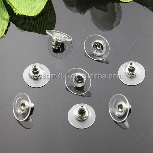 White Steel Earring Stud Back Earring Stopper For Jewelry Diy