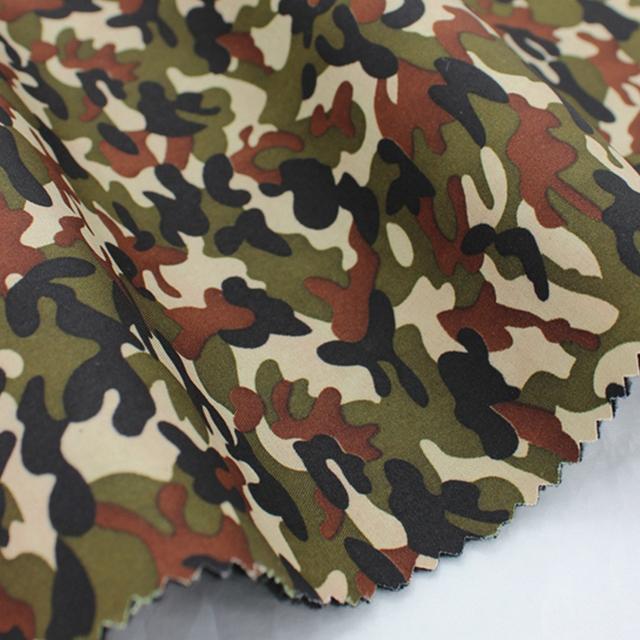 wholesale special design woven waterproof camouflage fabric bonding polar fleece fabric