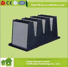 Activated carbon particles V bank air filter for absorb the odor