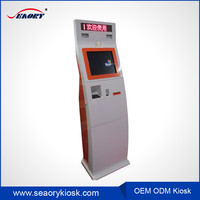 2016 new arrival touch screen monitor display kiosk/bill payment kiosk machine/coin operated vending machine