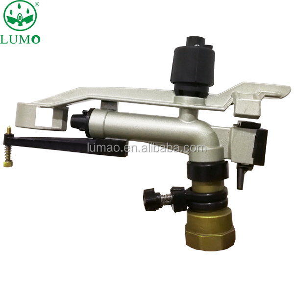 Agricultural medium distance impact sprinkler irrigation system full and part circle watering gun for garden and farmland