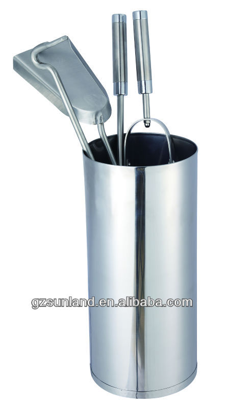Stainless Steel Fireplace Tools Set With Bucket - Buy Fireplace ...