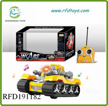 New kids military vehicle 2ch rc tank with light sound rc tank
