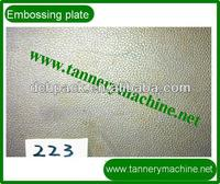 embossed metal plate for leather for balsam oil crocodile to embossing leather patterns