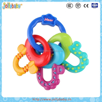 BPA Free Food Grade Silicone Key Teether Toy