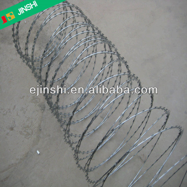 300 mm-1000 mm Hot Dip Galvanized PVC Stainless Steel Razor Barbed Wire 8-15 m/roll for Wall Road Border Military Protecting