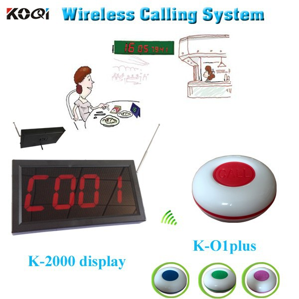 Safe Delivery Call Button For Restaurant Equipment K-2000+K-O1plus Kitchen Order Display System