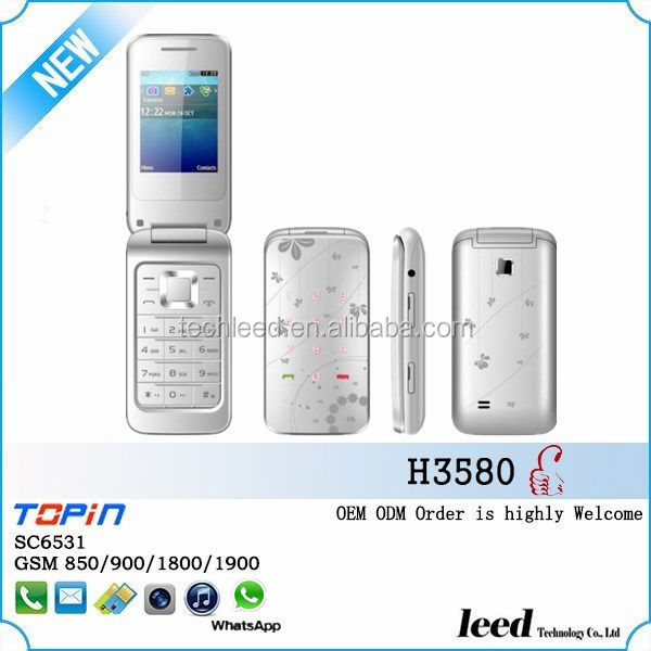 chinese dual sim card mini mobile phone flip GSM850/900/1800/1900 sc6531 500mAh batery colorful cheap telephone H3580