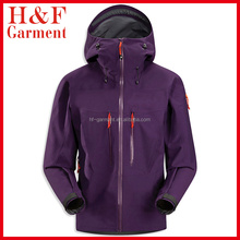 Mens cheap softshell jackets waterproof 10000MM MVP 5000 in dark purple