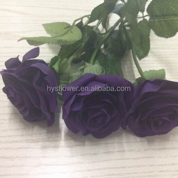 Cadbury purple rose Top quality real touch roses,artificial purple rose arts and craft