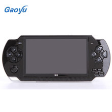X6 Portable Handheld Game Console 8GB 4.3'' 32Bit Childhood Classic Games Built-In Portable Handheld Video Game Player