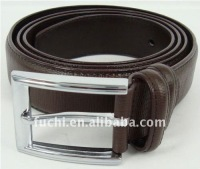 Iron sheet decorated leather belt