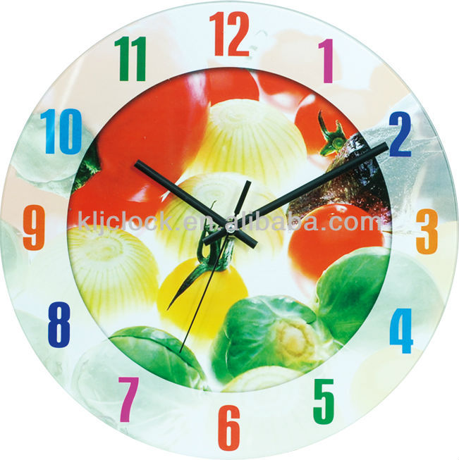 Decorative Billiard Balls Art Glass Wall Clock