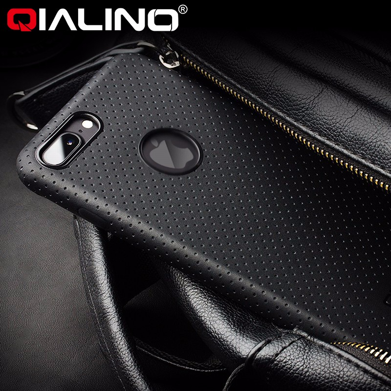 QIALINO for apple iphone 7 case slim protective leather phone <strong>cover</strong>, original leather cell phone case for iphone 7 plus