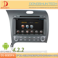 "8"" K3 2013-2014 pure android 4.2.2 car DVD GPS with WIFI/3G"