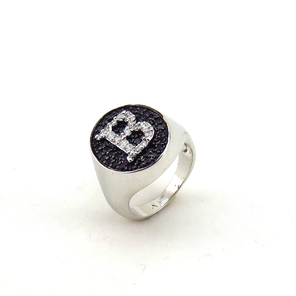 Latest Fashion Micro Pave Setting Ring Spikes Stainless Steel Ring